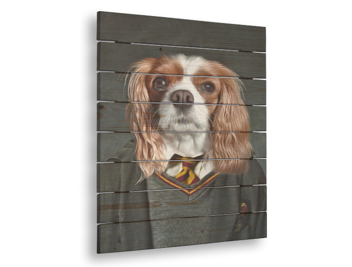 Slika na drvetu Pet Portrait Harry - 40x55 cm