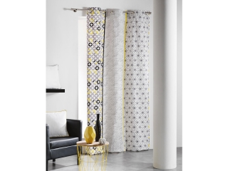 Draperija DOUCEUR SIMPLY GREY & YELLOW 140x240 cm