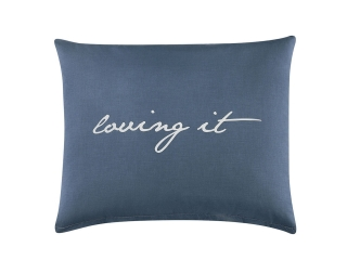 Jastučnica LOVING IT 50x60 cm – Dark Blue/White